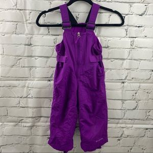 Columbia toddler fleece lined purple snow pants